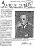 Amicus Curiae, February 25, 1952