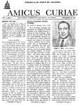 Amicus Curiae, December 10, 1952