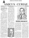 Amicus Curiae, October 20, 1953