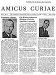 Amicus Curiae, March 9, 1955