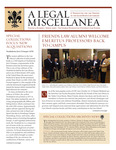 A Legal Miscellanea: Volume 3, Number 1 by Jacob Burns Law Library George Washington University Law School