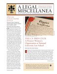 A Legal Miscellanea: Volume 5, Number 2 by Jacob Burns Law Library George Washington University Law School