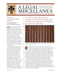 A Legal Miscellanea: Volume 6, Number 2 by Jacob Burns Law Library George Washington University Law School