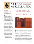 A Legal Miscellanea: Volume 7, Number 2